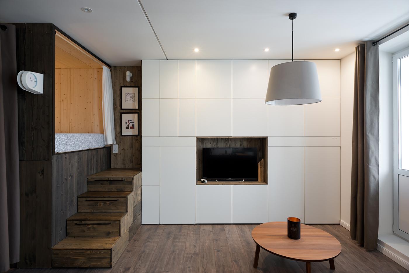 Дизайн однокомнатной квартиры 35 кв.м в современном